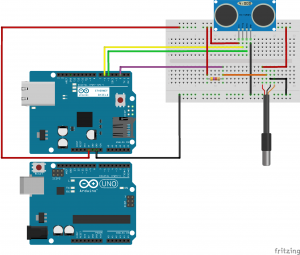 WaterLevel Meter Fritzing schematic